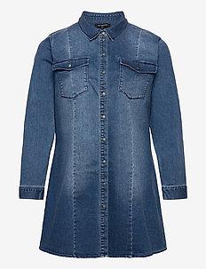 CARNETTE LIFE LS BELT DNM TUNIC DRESS - tunieken - medium blue denim