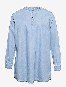 CARDANJA LIFE LS TUNIC BLOUSE - tunieken - light blue