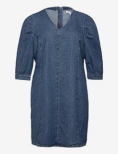 CARLURSA LIFE 3/4 DNM TUNIC DRESS - jeanskleider - medium blue denim