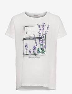 CARCITY SS O-NECK IN ONE TEE - t-shirts - cloud dancer