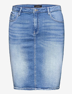 CARLAOLA LIFE SKIRT - jeanskjolar - medium blue denim