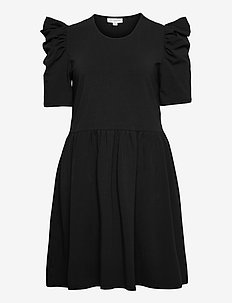 CARJUNE LIFE 2/4 PUFF KNEE DRESS - everyday dresses - night sky