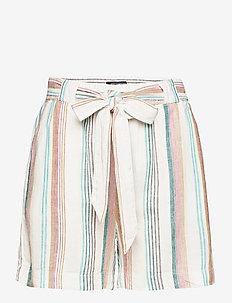 CARSTACYI STRIPE SHORTS - paper bag shorts - desert sage