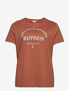 CARDIA LIFE SS REG TEE - t-shirt & tops - ginger bread