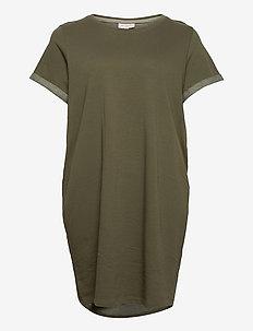 CARKAYLEE LIFE SS BLK DRESS - t-shirt dresses - kalamata