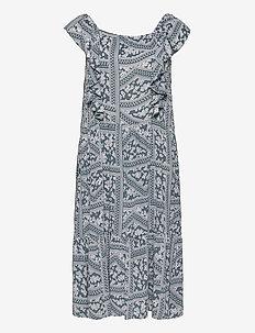 CARSUPER LIFE SL CALF DRESS AOP - summer dresses - blue mirage
