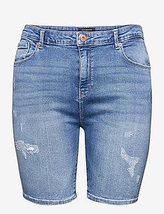 CARLAOLA LIFE REG DEST DNM SHORTSAZG007 - denim shorts - medium blue denim