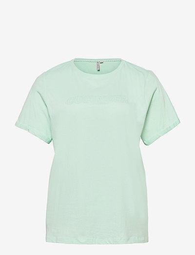 CARMAI LIFE SS REG TEE - t-shirts - brook green