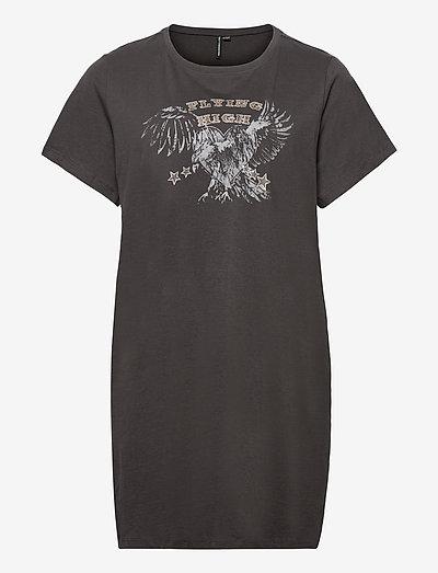CARGLOW LIFE SS LONG TEE - t-shirts - phantom
