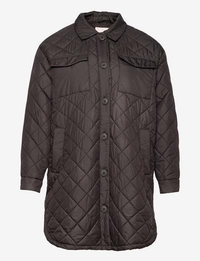 CARTANZIA LONG QUILTED SHACKET CC OTW - quiltede jakker - black