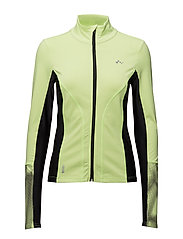 onpRUEL RUN BRUSHED LS ZIP - SHARP GREEN