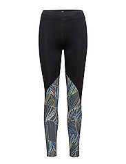 onpTRIXI AOP COMPRESSION TIGHTS - BLACK