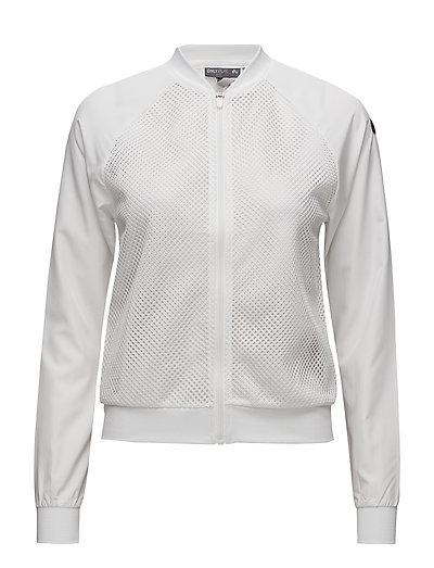 onpGRIDDY BOMBER JACKET - WHITE