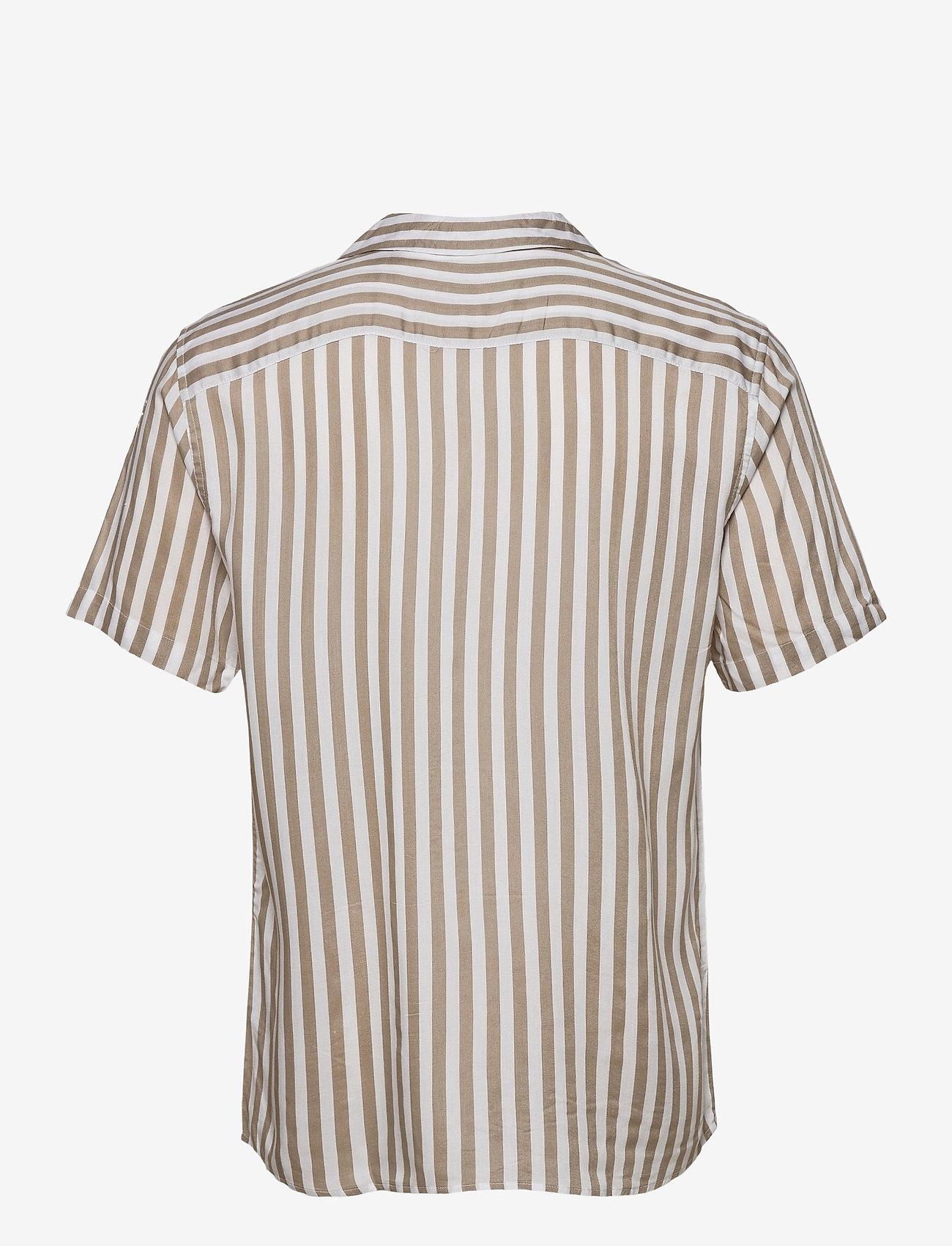 ONLY & SONS - ONSWAYNE LIFE SS VISCOSE SHIRT - koszule w kratkę - chinchilla - 1