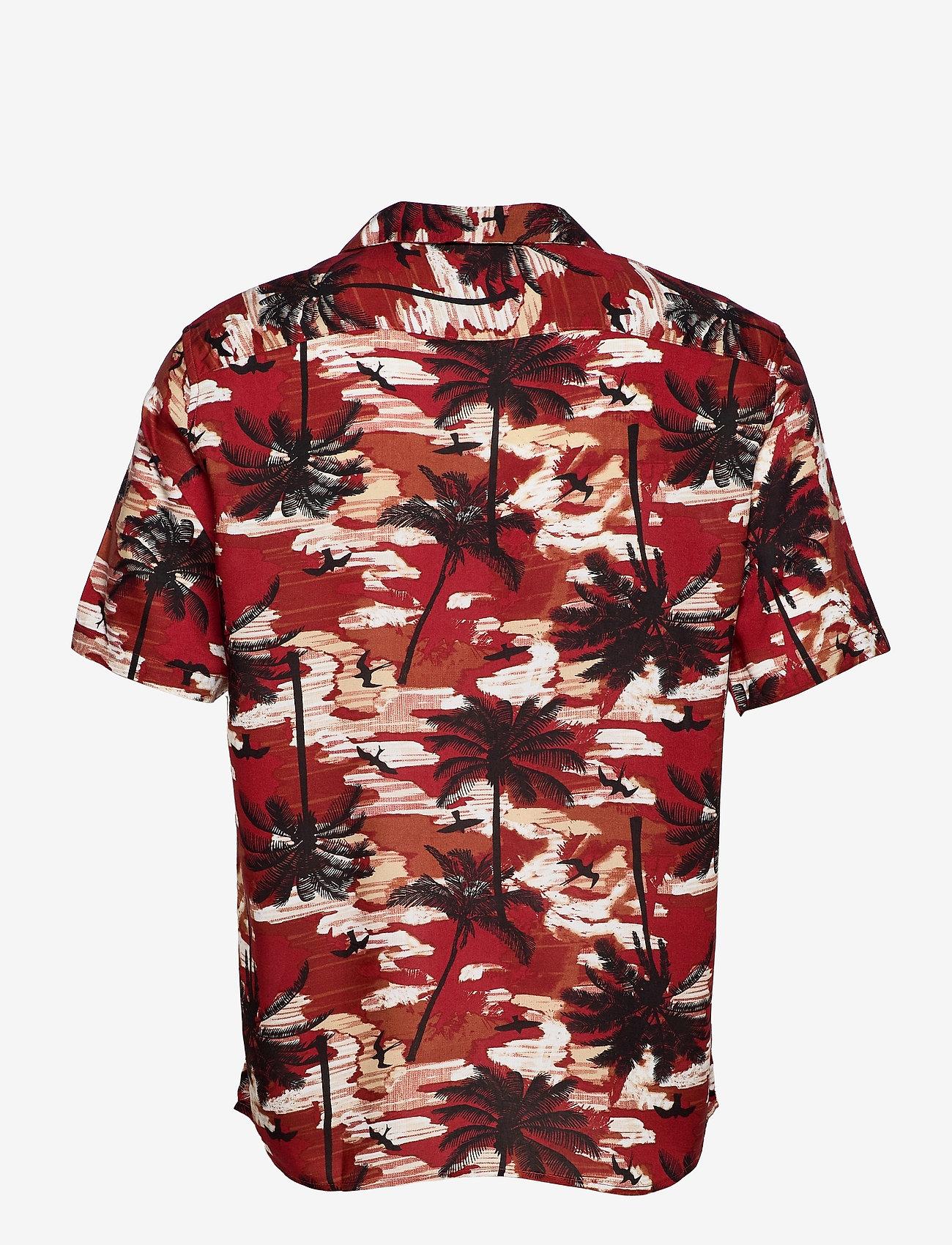 ONLY & SONS - ONSPALM LIFE SS VISCOSE AOP REG SHIRT - koszule w kratkę - bossa nova - 1
