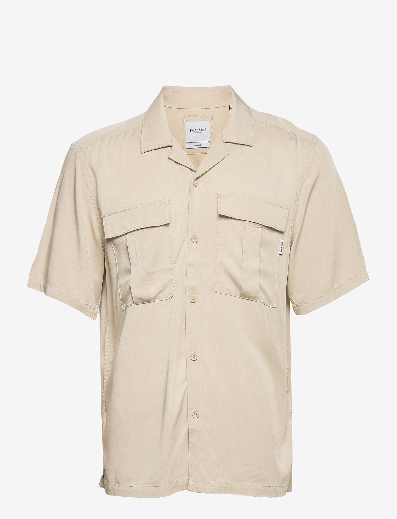 ONLY & SONS - ONSSCOTTIE LIFE SS UTILITY RELAXED SHIRT - koszule w kratkę - pelican - 0