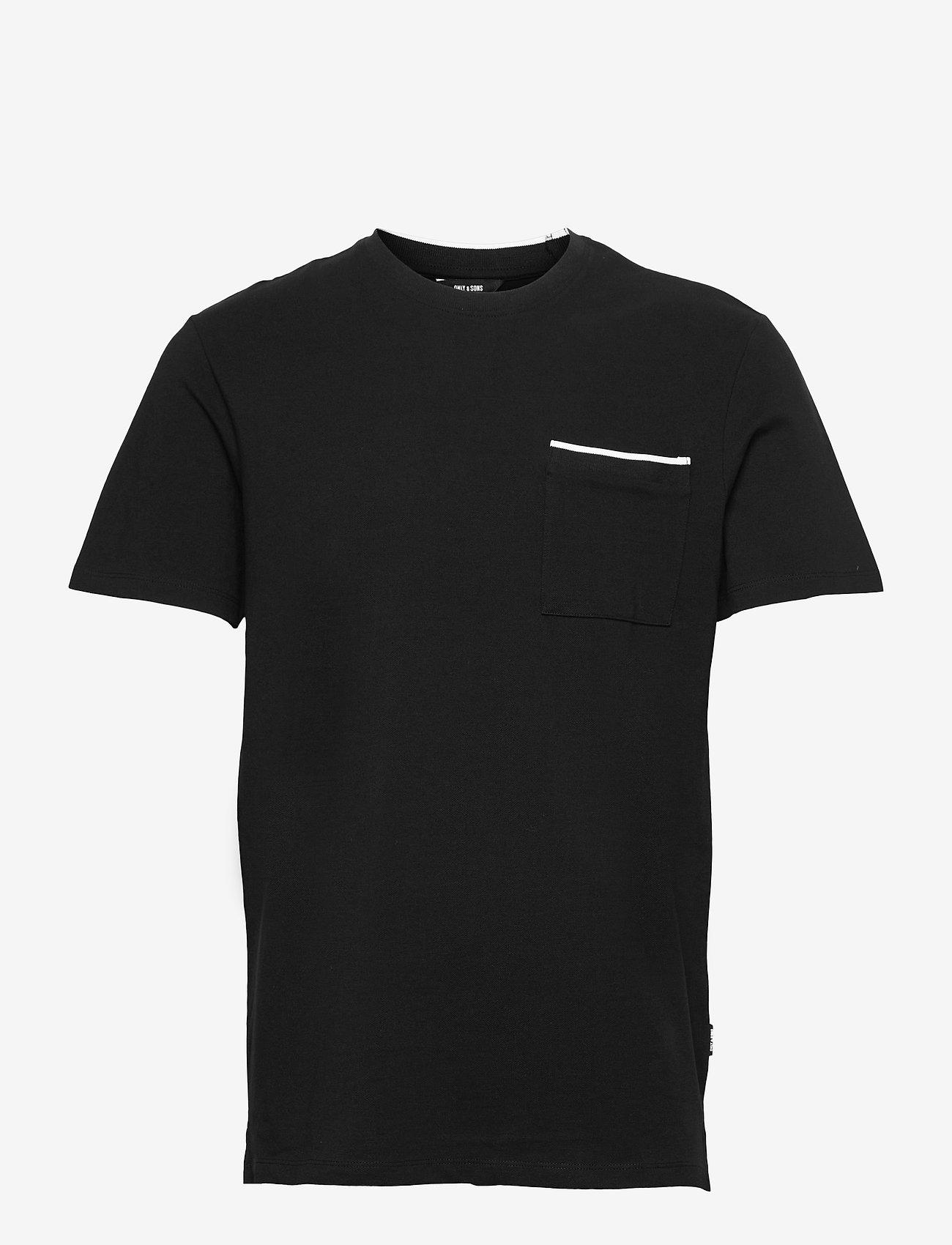 ONLY & SONS - ONSABRAM LIFE REG SS TEE - podstawowe koszulki - black - 0