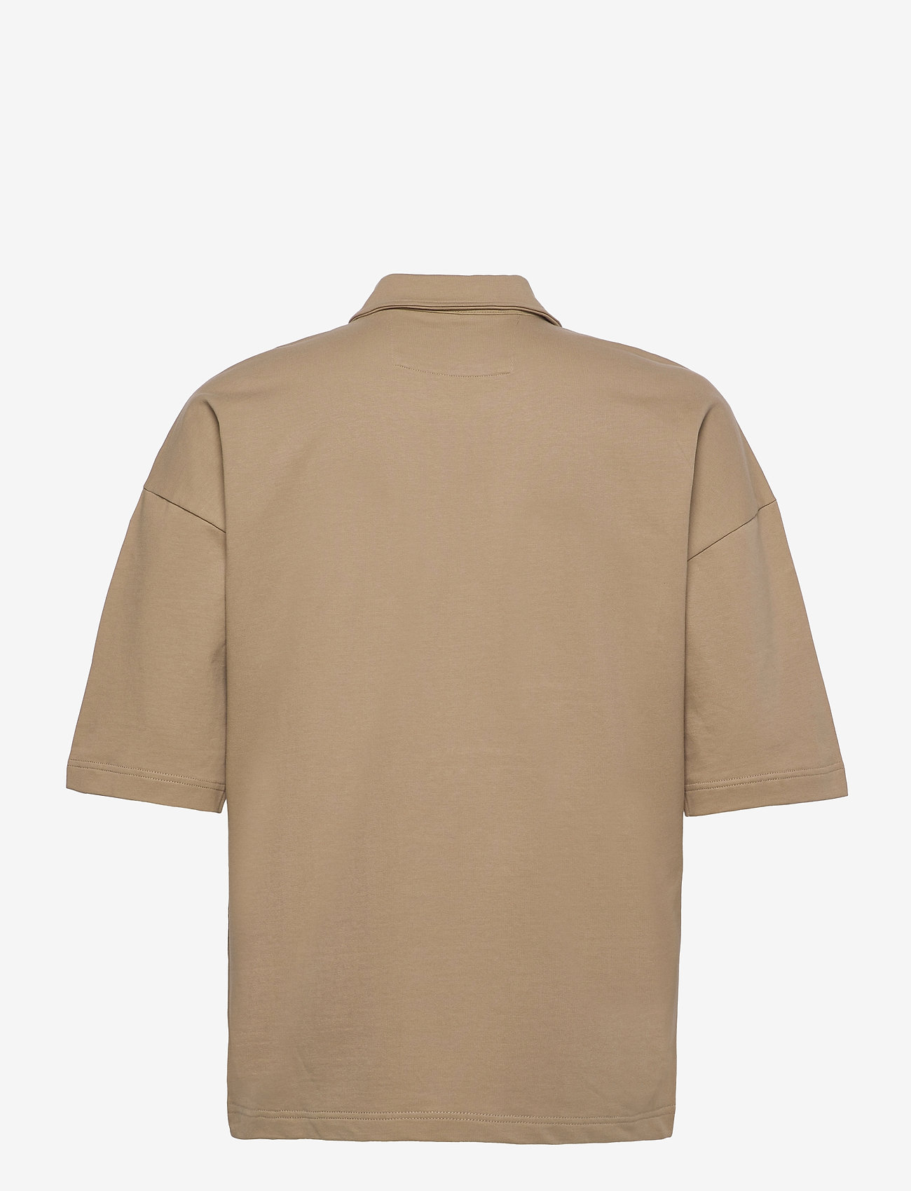 ONLY & SONS - ONSLEE  OVZ UTILITY ZIP SS SWEAT - koszule lniane - chinchilla - 1
