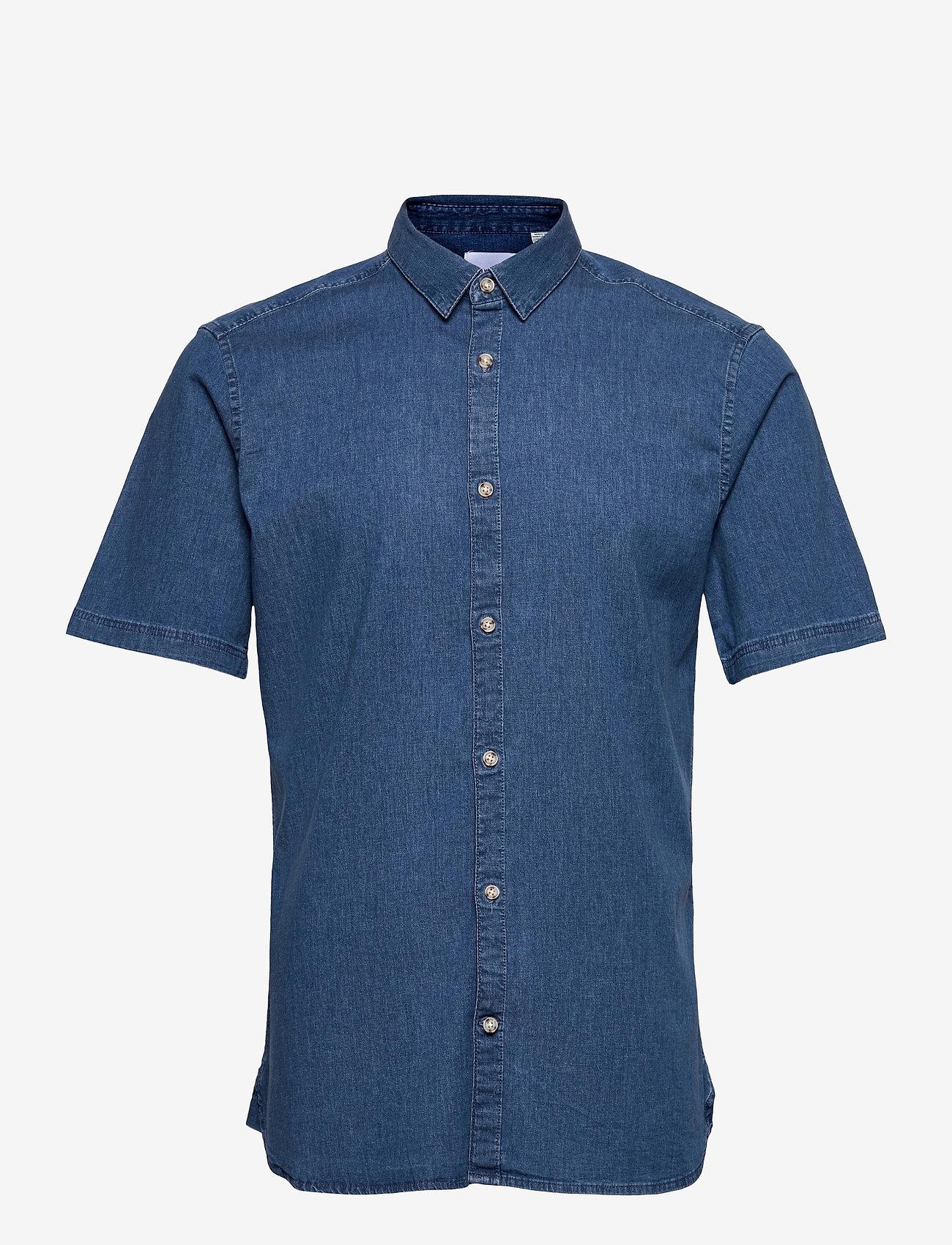 ONLY & SONS - ONSTROY LIFE SS CHAMBRAY STRETCH SHIRT - koszule w kratkę - medium blue denim - 0
