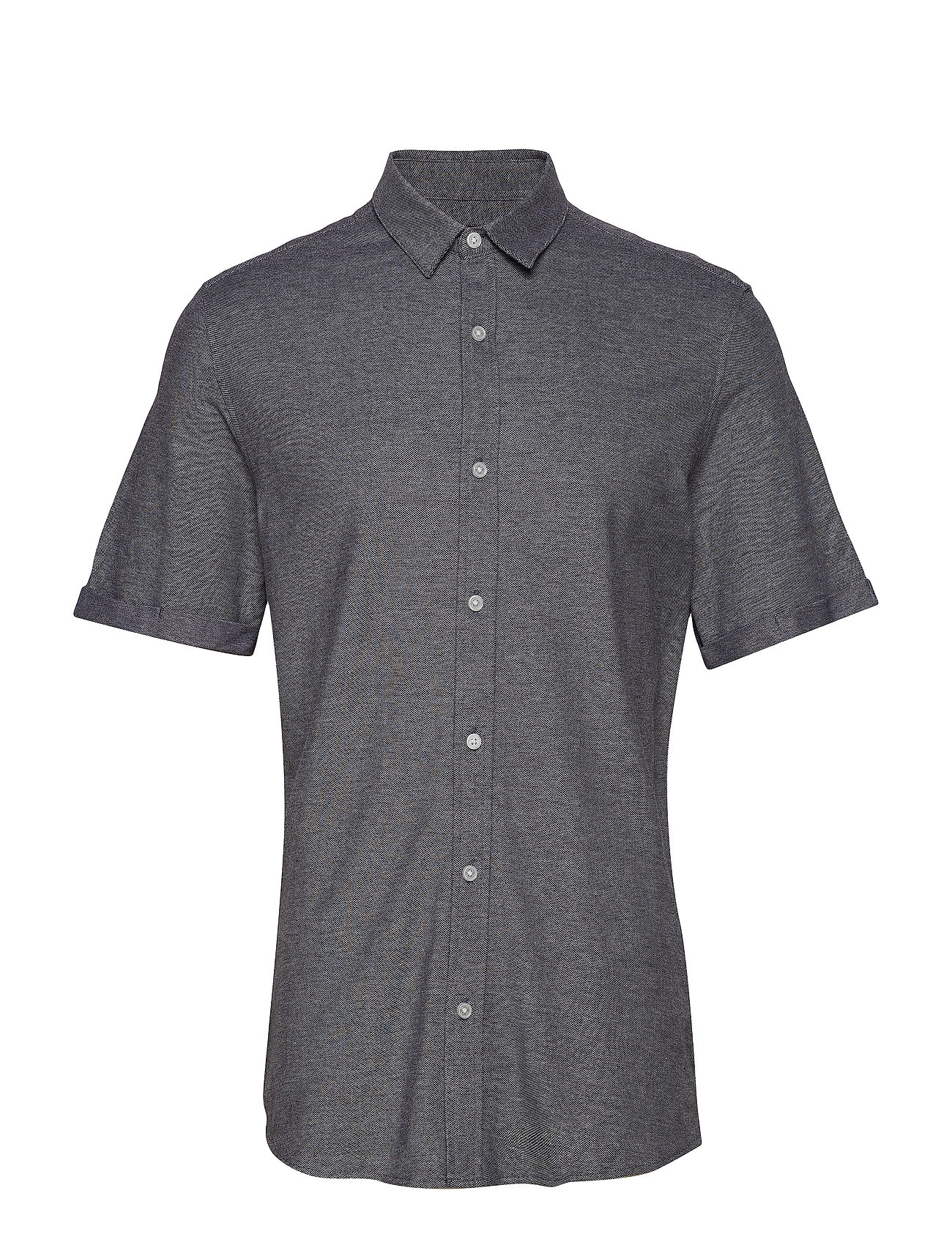 ONLY & SONS onsCUTON SS KNITTED MELANGE SHIRT RE - BLACK