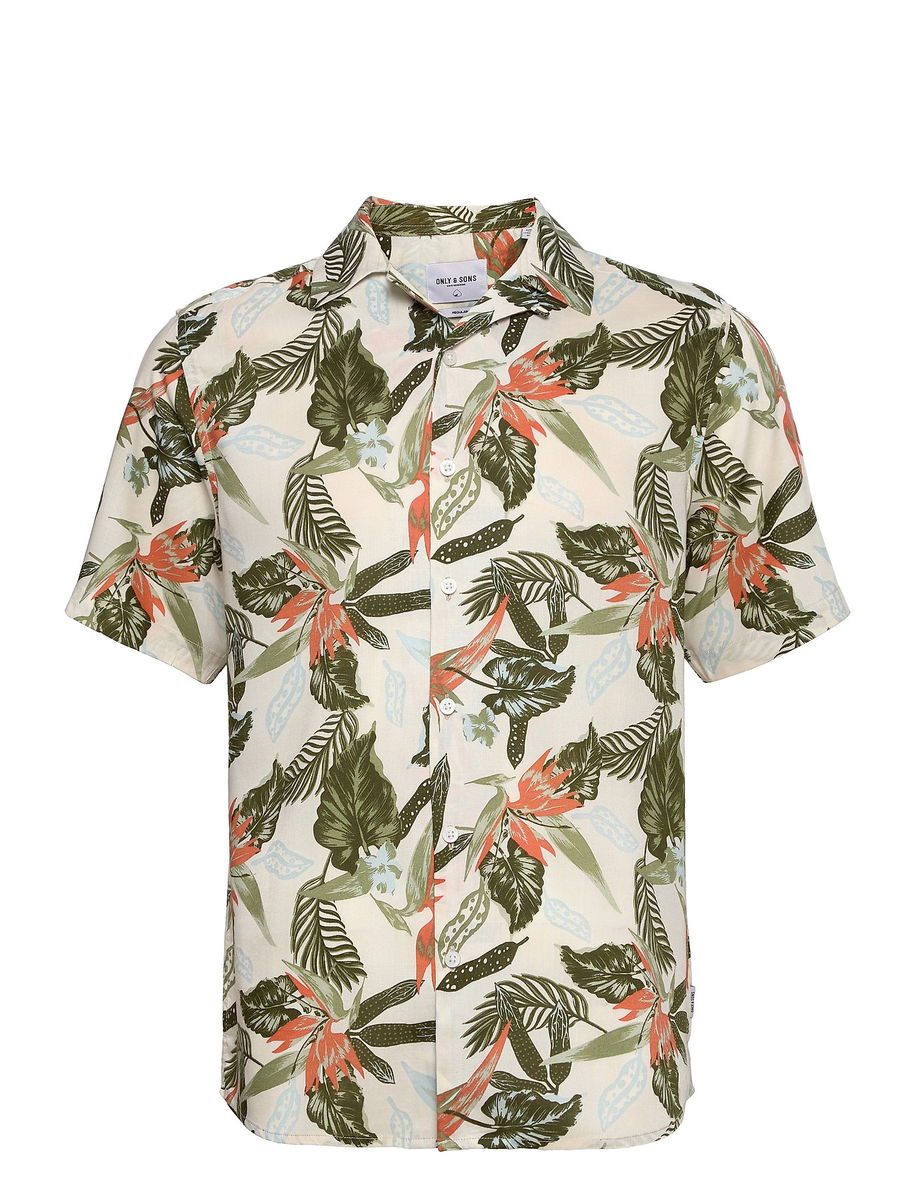 Onsklopp Life Ss Aop Viscose Shirt Kortærmet Skjorte Multi/mønstret ONLY & SONS