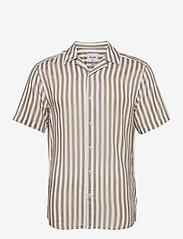 ONLY & SONS - ONSWAYNE LIFE SS VISCOSE SHIRT - koszule w kratkę - chinchilla - 0