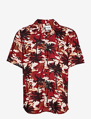ONLY & SONS - ONSPALM LIFE SS VISCOSE AOP REG SHIRT - koszule w kratkę - bossa nova - 0