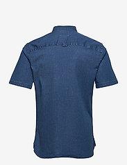 ONLY & SONS - ONSTROY LIFE SS CHAMBRAY STRETCH SHIRT - koszule w kratkę - medium blue denim - 1