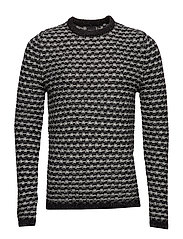 onsDOC 3 CREW NECK KNIT NOOS - MEDIUM GREY MELANGE