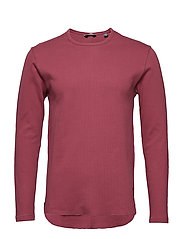 onsHERLUF CURVED O-NECK - MAROON