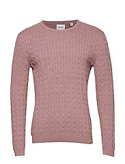 onsALEX 12 CABLE CREW NECK REG - ROSE TAUPE