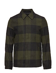 onsSHAWN WOOL JACKET - FOREST NIGHT