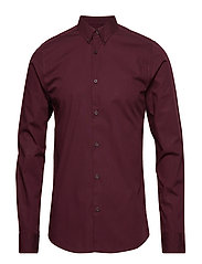 onsPOPLIN BTN DOWN SHIRT LS EXP RE - WINETASTING