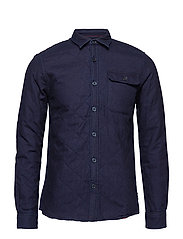 onsOBRIAN LS REG QUILTED SHIRT RE - BLUE NIGHTS
