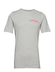 onsCHAINSMOKER SS TEE - LIGHT GREY MELANGE