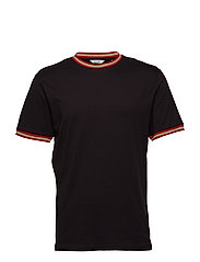 onsMETALLIC RIB SS TEE EXP RE - BLACK