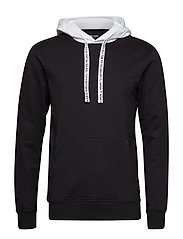 onsWF DANNY CONTRAST SWEAT HOOD EXP - BLACK