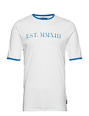 onsWADE STRIPED SS TEE EXP - WHITE