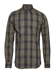 onsCHECKED LS FLANNEL SHIRT EXP - FOREST NIGHT