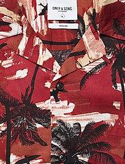 ONLY & SONS - ONSPALM LIFE SS VISCOSE AOP REG SHIRT - koszule w kratkę - bossa nova - 2