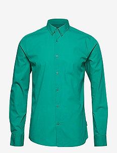 onsPOPLIN BTN DOWN SHIRT LS EXP RE - podstawowe koszulki - emerald