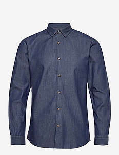 ONSASK LIFE LS CHAMBRAY SHIRT NOOS - chemises basiques - dark blue denim