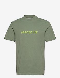 ONSALLEN LIFE REG SS TEE - t-shirts à manches courtes - hedge green