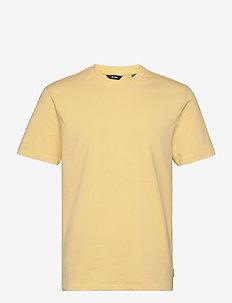 ONSANEL LIFE REG SS TEE - t-shirts basiques - pale banana