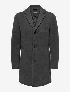 ONSJAYLON WOOL COAT OTW - manteaux de laine - dark grey melange