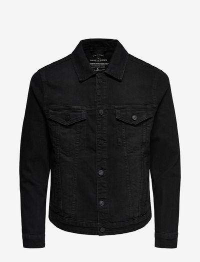 ONSCOIN LIFE JACKET BLACK PK 0453 - kurtki dżinsowe - black denim