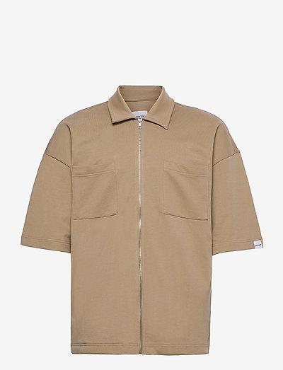 ONSLEE  OVZ UTILITY ZIP SS SWEAT - geruite overhemden - chinchilla