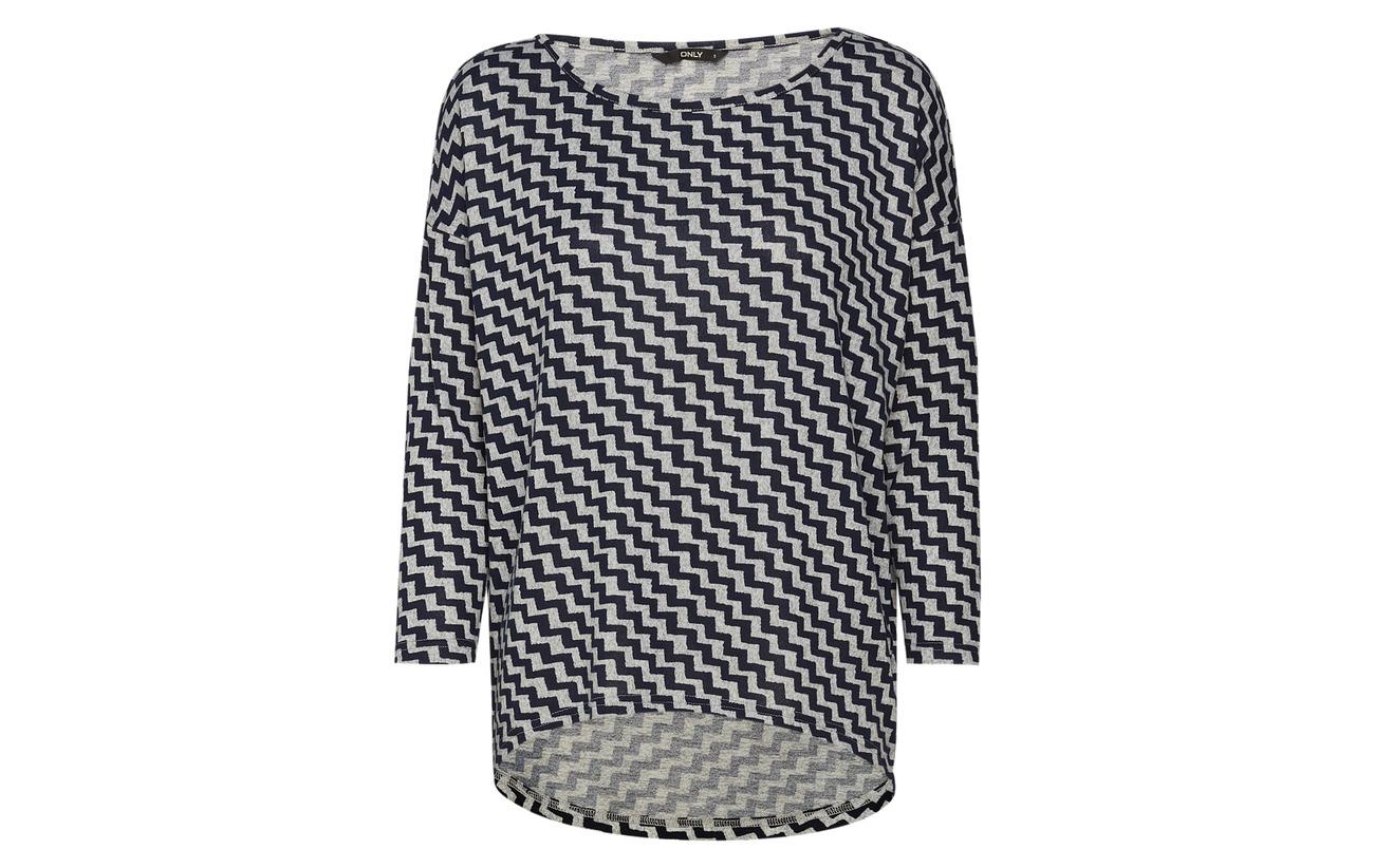 Onlelcos 4 5 Polyester Only Elastane Light 95 Noos 5 Top Melange Aop Jrs Grey pd5FxT