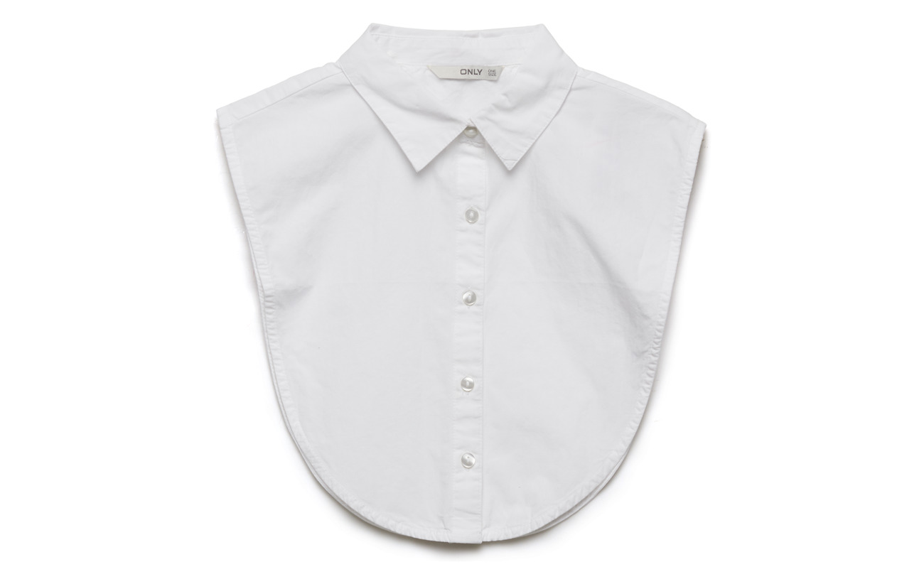 ONLY ONLSHELLY WEAVED COLLAR ACC NOOS - BRIGHT WHITE