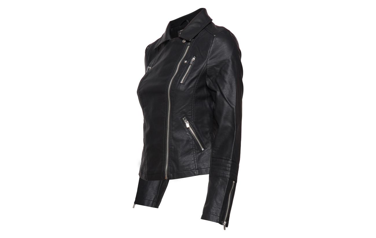 50 Faux Polyurethane Black Leather Only Otw Biker Onlgemma Viscose 5PxOYwq4w